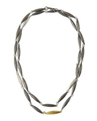 Gurhan | Metallic Blackened Sterling Silver Wrap Necklace | Lyst