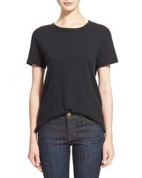 Current/Elliott | Black 'the Freshman' Tee | Lyst