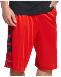 "Nike | Red Men's Elite Stripe 12"" Basketball Shorts for Men 