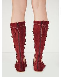 Free People | Red Decibel Gladiator Sandals | Lyst