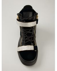 Giuseppe Zanotti - Black Swarovski Embellished Sneakers for Men - Lyst