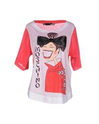 Love Moschino - Red T-shirt - Lyst