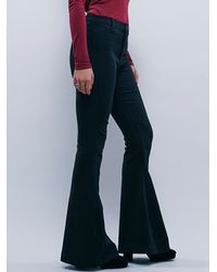 Free People | Black Highland High Rise Flare | Lyst