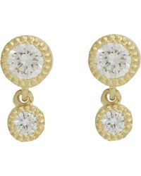 Tate - Yellow Diamond Double-drop Earrings - Lyst