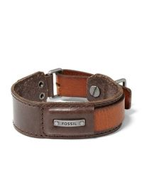 Fossil - Brown Mens Bracelet for Men - Lyst