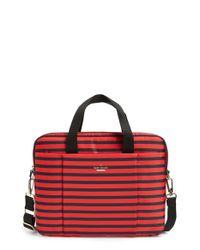 kate spade new york - Red 'watch Hill - Stripe' Nylon Laptop Bag - Lyst
