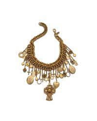 Erickson Beamon | Metallic Chain Charm Necklace - Gold | Lyst