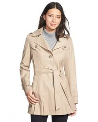 Via Spiga | Natural 'Scarpa' Single Breasted Hooded Trench Coat | Lyst