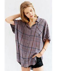 BDG - Purple Oversized Button-Down Boy Shirt - Lyst
