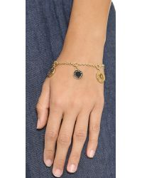 Marc By Marc Jacobs - Metallic Cut Out Cosmic Coins Bracelet - Black/Oro - Lyst