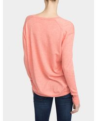White + Warren | Pink Essential Cotton Soft V Neck | Lyst