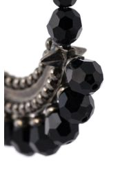 Givenchy   Black Faceted Bead Statement Earrings   Lyst