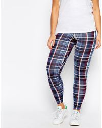 ASOS - Blue Legging In New Tartan Print - Lyst