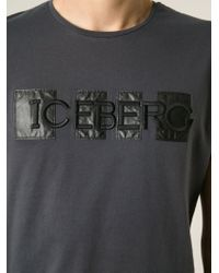 Iceberg - Gray Logo T-Shirt for Men - Lyst