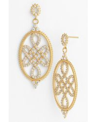 Freida Rothman - Metallic Love Knot Drop Earrings - Lyst