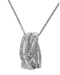 Effy | Metallic Classique 14k White Gold And Diamond Pendant Necklace | Lyst