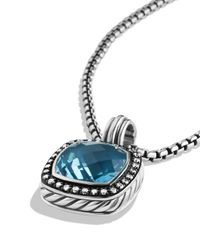 David Yurman - Metallic Albion Pendant With Hampton Blue Topaz & Diamonds - Lyst