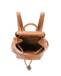 Tory Burch - Brown Frances Flap Backpack - Bark - Lyst
