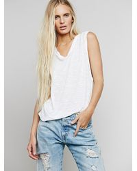 Free People - White We The Free Womens We The Free Long Beach Tank - Lyst