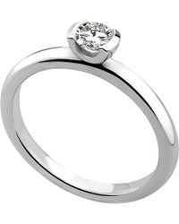 Theo Fennell - Reveal Solo 18ct White-gold And Brilliant-cut Diamond Ring - Lyst