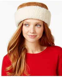 Nine West | Brown Curly Faux Fur Cuff Cloche | Lyst