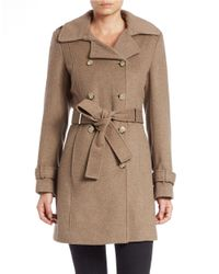 Calvin Klein | Natural Wool-blend Trench Coat | Lyst