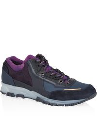 Lanvin | Blue Navy Running Lace Up Trainers | Lyst