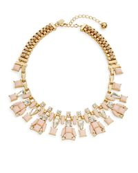 kate spade new york | Metallic Box Chain Statement Necklace | Lyst