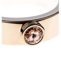 Givenchy | Pink Crystal Stud Cuff | Lyst