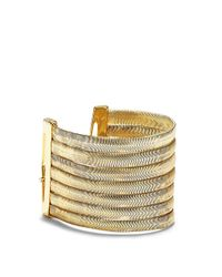 Vince Camuto | Metallic Gold Multi Snake Chain Bracelet | Lyst
