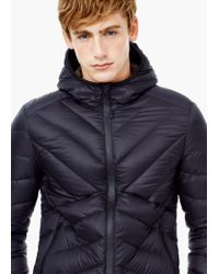 Mango | Gray Quilted Feather Coat for Men | Lyst