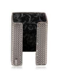 Bisou Bijoux - Black Big Square Cuff Bracelet - Lyst