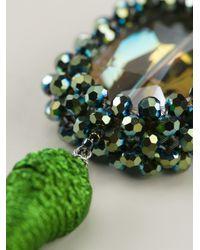 Night Market - Green Tassel Earrings - Lyst