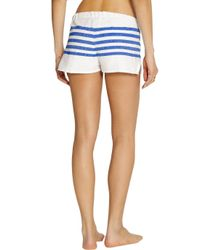 lemlem - Blue Lilly Striped Cotton-Blend Gauze Shorts - Lyst