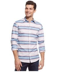 Tommy Hilfiger - White Lakes Serape Custom-fit Shirt for Men - Lyst