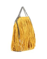 Stella McCartney - Yellow Falabella Small Fringed Shoulder Bag - Lyst