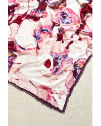 Urban Outfitters - Pink Watercolor Floral Square Scarf - Lyst