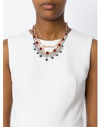 Mawi | Metallic Ruby Word Crystal Necklace | Lyst