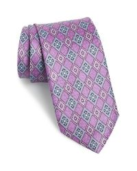 JZ Richards | Purple Geometric Silk Tie for Men | Lyst