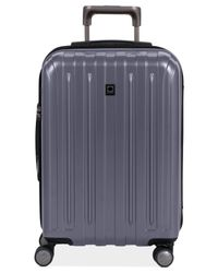"Delsey | Gray Helium Titanium 21"" Carry On Expandable Hardside Spinner Suitcase for Men 