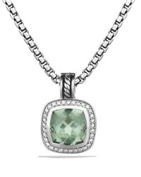 David Yurman - Metallic Albion Pendant With Prasiolite & Diamonds - Lyst