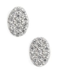 Freida Rothman | Metallic 'femme' Oval Stud Earrings | Lyst
