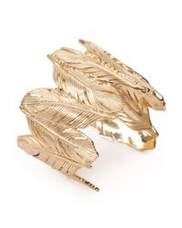Joanna Laura Constantine | Metallic Gold-toned Feather Cuff | Lyst