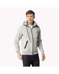 Tommy Hilfiger | Gray Cotton Blend Hoody for Men | Lyst