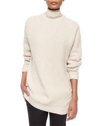Brunello Cucinelli - White Silk-back Cashmere Combo Sweater - Lyst