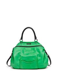 hayden-harnett | Green 'All Day' Leather Satchel | Lyst