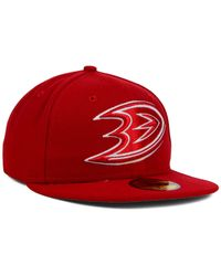 KTZ - Red Anaheim Ducks C-dub 59fifty Cap for Men - Lyst