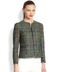 Akris Punto | Green Tweed Jacket | Lyst