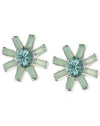 Anne Klein | Blue Crystal Button Stud Earrings | Lyst