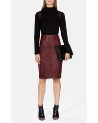 Karen Millen - Black Turtleneck Jersey Top - Lyst